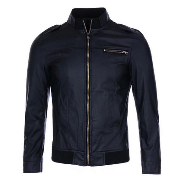 Puimentiua Winter Men Leather Jackets Coats Motorcycle PU Bomber Jackets Male Long Sleeve Zipper Clothes Coats Windbreakers