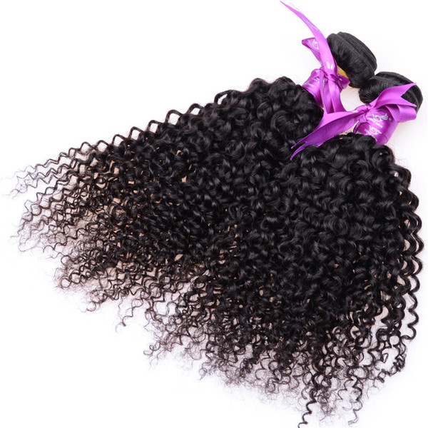 Indian Curly Virgin Hair 7A Jerry Kinky Curly Virgin Hair Brazilian Virgin Hair Tight Curly Weave 3 or 4 pieces Cheap Human Bundles