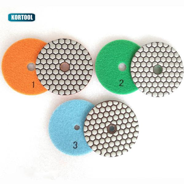 top popular 3 Steps Dry Polishing Pad Sharp Type Flexible Diamond Polishing Pad For Granite Marble Stone Sanding Disc 2020