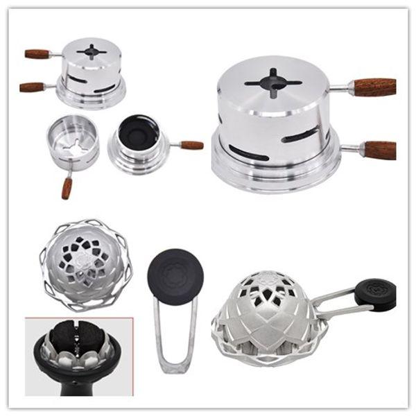Kaloud Lotus Shisha Hookah Bowl Heat Charcoal Holder Coal Funnel Box Burner Wind Cover Smoking Accessories