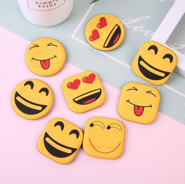 Hot Selling Hangable Smiling Face Crying Face Cartoon Expression Puff Air Cushion Sponge Puff Hand Hook Powder Puff