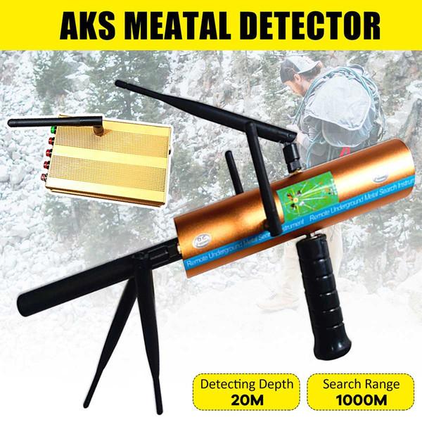 AKS 3D Antenne de poche Détecteur de métaux professionnel Underground Gold Silver Treasure Détecteur de métaux Finder Digger Hundter Plage de 1 000 m