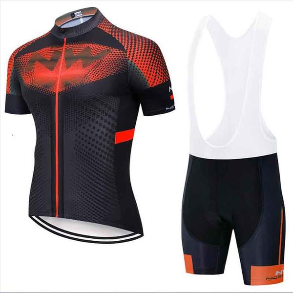NW 2019 New Pro Summer Cycling Jersey manica corta set pantaloncini corti UOMO MTB biciclette vestiti Maillot Culotte Abbigliamento Sportwea