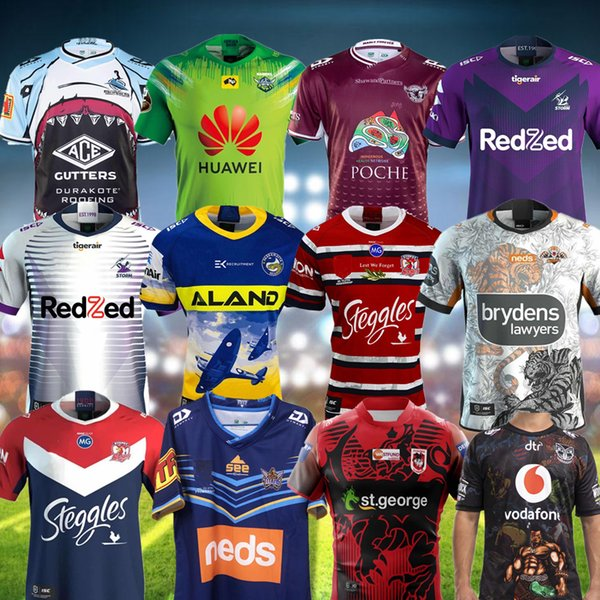 best selling 2020 NRL Rugby League jerseys SYDNEY ROOSTERS ANZAC JERSEY PREMIERS Indigenous Melbourne St George Sharks WARRIOR Eel tiger rugby Jerseys