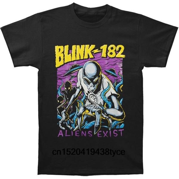 Pamuk Blink 182 Yabancılar Var Mens T Shirt O Boyun Tee Tops