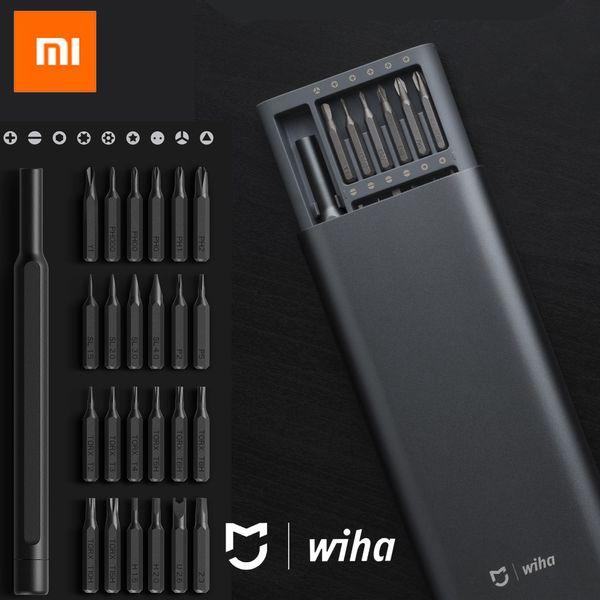 best selling 100%Xiaomi Mijia Wiha Daily Use Screw Kit 24 Precision Magnetic Bits Alluminum Box Screw Driver xiaomi smart home Kit