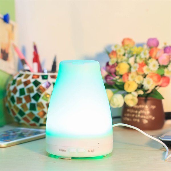 100ML Colorful Night Aroma Diffuser Ultrasonic Mute Aromatherapy Essential Oil Diffuser Home Air Humidifier EU US UK AU Plug