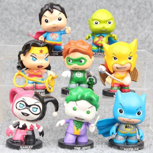 GIFT MINI Green Lantern Batman Harley Quinn models Funko Pop Child's Play Chucky Vinyl Action Figure #531 Popular Toy Gift Free Shippin