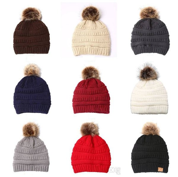 9 styles Winter Hats baseball Adult knitted Caps Casual Outdoor sports Hats  winter Thicken Crochet Ski Baseball Beanie Caps mk703 f04a5b9d4d33