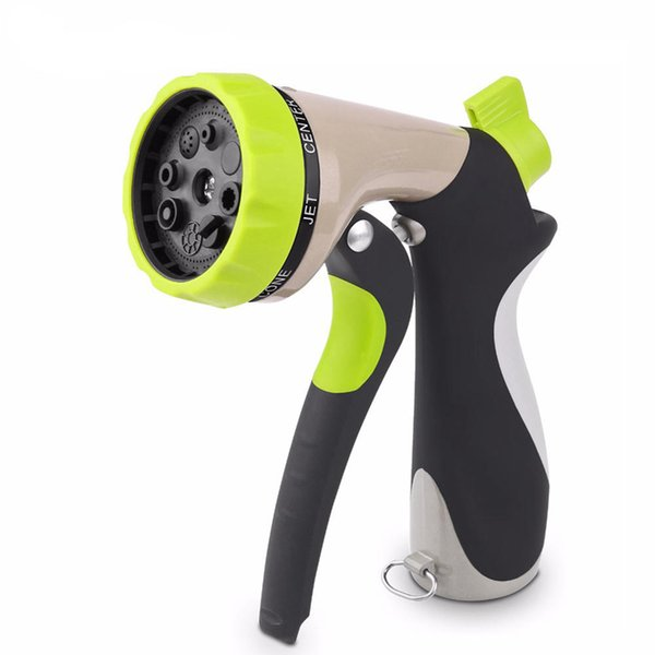 best selling Garden Hose Nozzle Hand Sprayer 8 Pattern Adjustable Heavy Duty Metal Slip Resistant Car Wash Nozzle