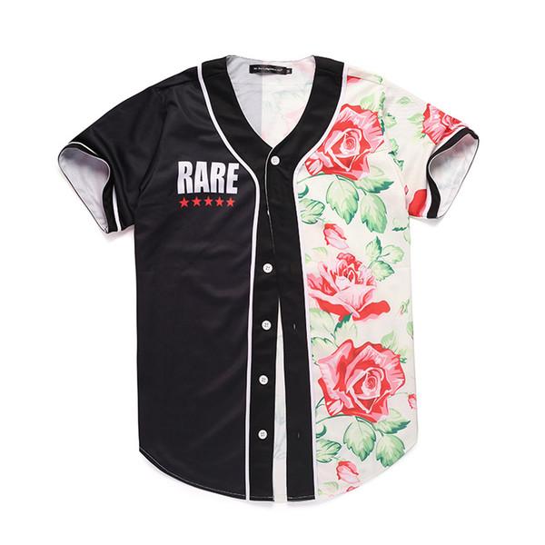 Plus Size Mens Designer Shirt Summer 3D Floral Printed Panelled Color Short Sleeve Baseball Cardigan Shirts Casual Teenager Shirt