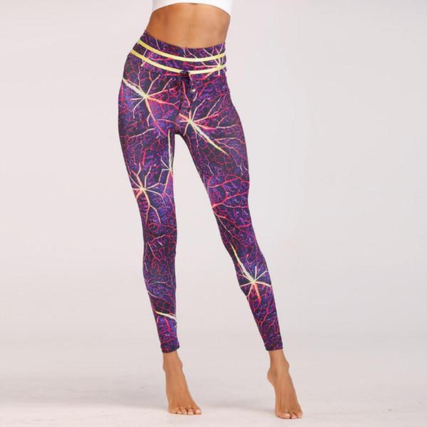 Mulheres Sporting Yoga Workout Gym Fitness Exercício Tornozelo-Comprimento Yoga / Calças de Fitness Primavera, Verão, Outono, Inverno