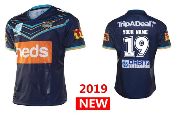 New Titans Uniforms 2020.2018 Best Quality 2019 2020 Gold Coast Titans Home Jersey Rugby Jerseys Nrl National Rugby League Shirt Nrl Jersey S 3xl From Aa Sports 17 73