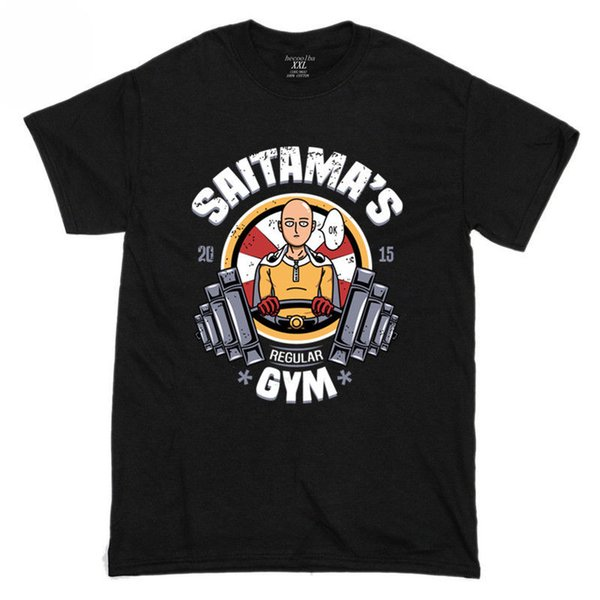 New Saitama's GYM One Punch Man Funny Manica corta da uomo T Shirt Taglia S-2XL Cartoon t shirt uomo Unisex New Fashion tshirt