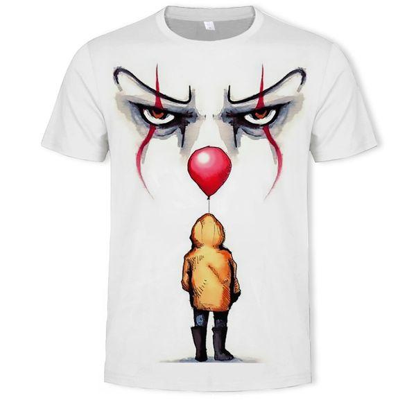 Personalidad Impreso Camiseta Adolescentes Moda Horror IT 3D Impreso Camisetas Hombres / Mujeres Oversize Summer Fashion Shirts S-5XL