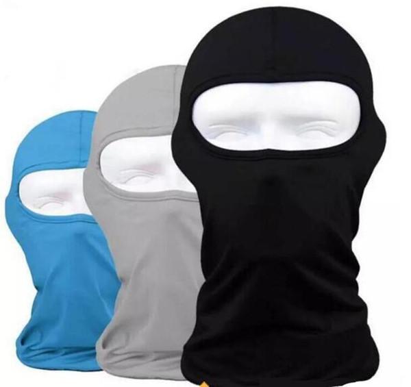 Outdoor Protection Full Face Lycra Balaclava Headwear Ski Neck Cycling Masks Motorcycle Bike Mask 17 Colors