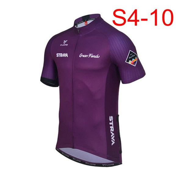 Üst STRAVA erkekler Bisiklet Kısa Kollu jersey / yaz nefes kısa kollu bisiklet / fermuar Slim fit özelleştirilebilir 60612