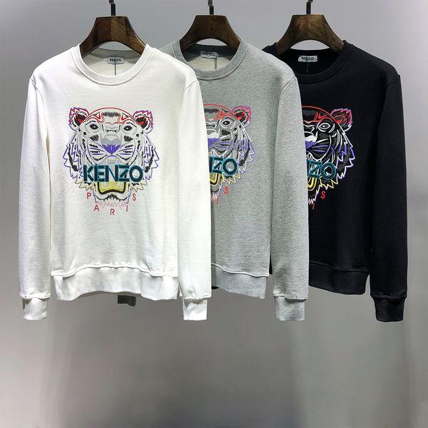 Caliente Kenz Paris Fashion Designers unisex sudaderas con capucha # 008 Francia lujos kenz Hombres Mujeres Cabeza del tigre camiseta de otoño invierno Ropa medusa FF