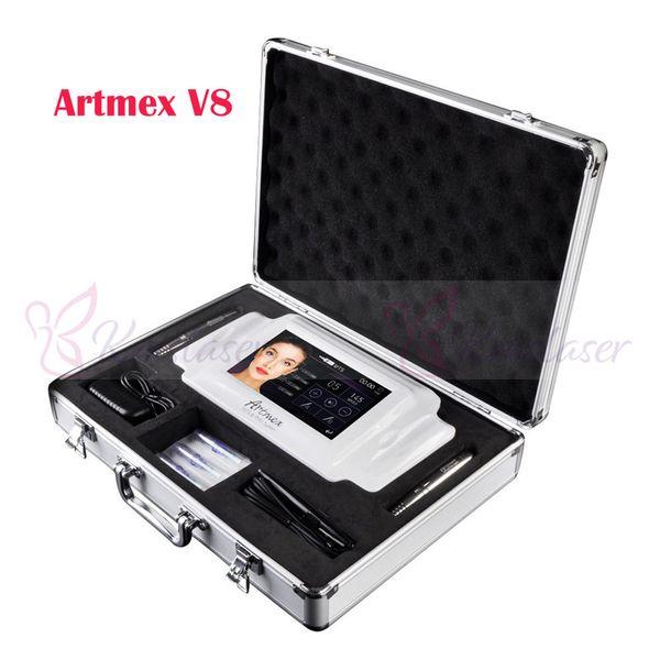 Artmex V8 Permanent Makeup Machine Professionelle Langzeit Liner Tattoo Maschine Microblade Augenbrauenstift Mikropigmentation Ausrüstung