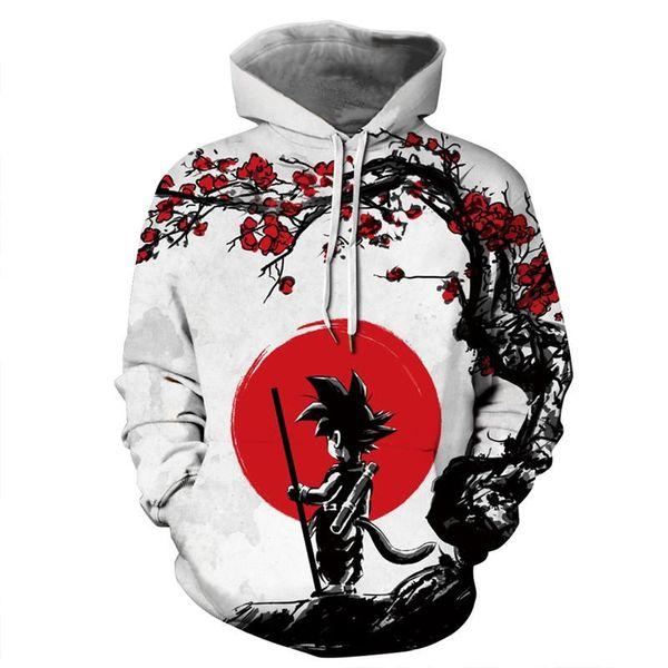 SOSHIRL Kid Goku Unisex Anime Hoodie Japanese Anime Naruto 3D Print Pullover Hooded Sweatshirt Funny Cool Streetwear
