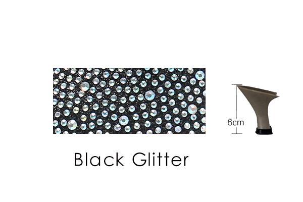 Black Glitter 6cm