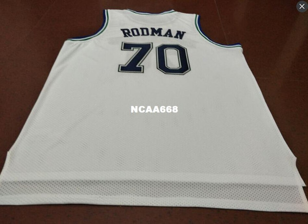 top popular Vintage #70 Dennis Rodman Bsaketball Jersey Size S-4XL or custom any name or number jersey 2019