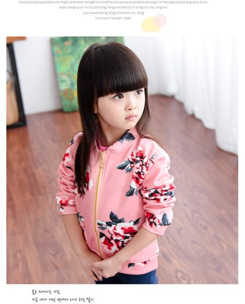2019 Spring and Autumn kids Baseball Clothing Little Girl Children's sets Clothing Baby Jacket Girls Coat Baseball 2-8 Ages