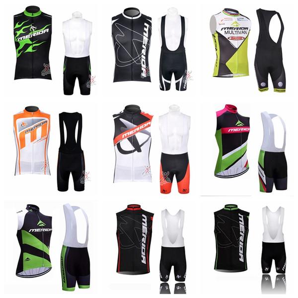 Pro MERIDA Team Männer Sommer Radfahren Ärmellose Trikot Weste Trägerhose setzt Trend Komfortabel Atmungsaktiv Top Marke 60417