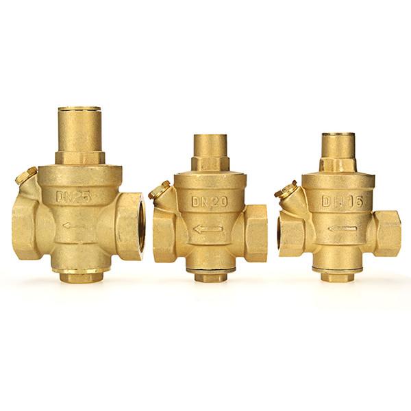 Ottone registrabile di pressione riscaldatore di acqua Valvola di riduzione 1/2