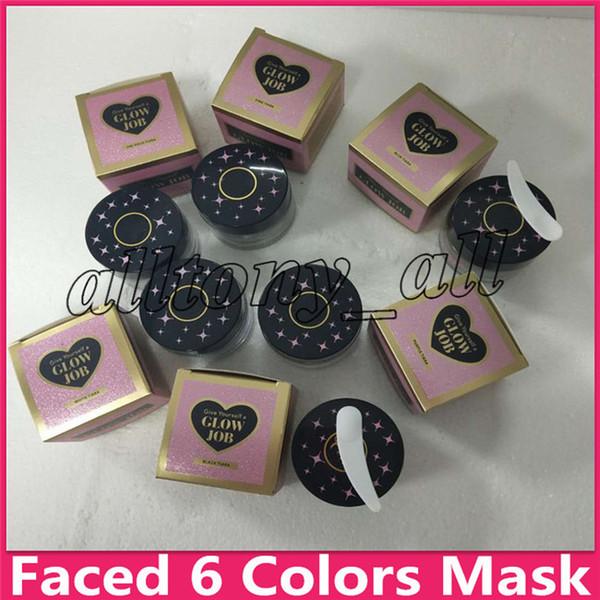 Hot face 6 colori Radiance Boosting glow job mask Maschera glitterata con vero oro 30 minuti rilassante liscia morbida viso rivelare 50 ml