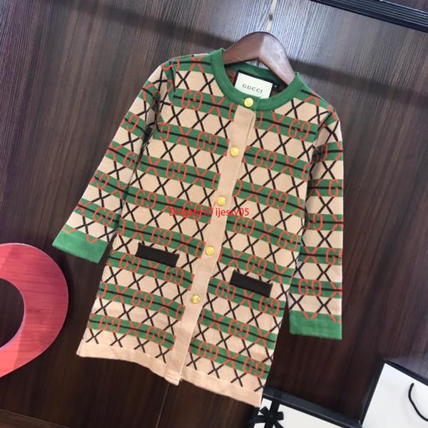 Осень девочек куртка кардиган детская дизайнерская одежда длинный кардиган пальто хлопка вязание крючком мягкая и удобная куртка