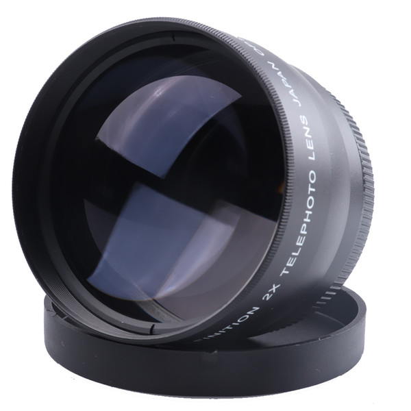 best selling 52mm 2.0x Affiliated Telephoto lens for Canon 5D 6D 60D 350D 400D 450D 500D 1000D 550D 600D 1100D Camera Lens