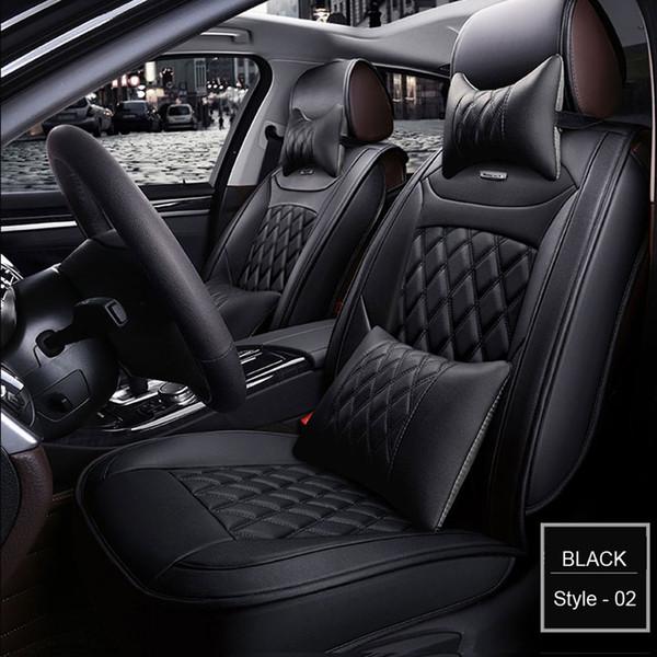 Jaguar için yüksek kalite Özel Deri Araba koltuğu Tüm Modeller XF XE XJ F-PACE F firma yumuşak pu deri koltuk kapakları Evrensel