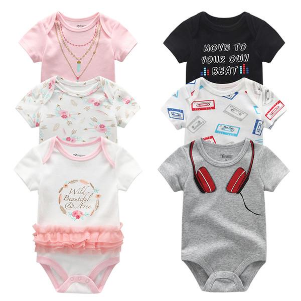 2019 3 Шт. / Лот Baby Girl Одежда 100% Хлопок 0-12 М Единорог Baby Boy Одежда Новорожденных Боди Одежда для Девочек Roupas de