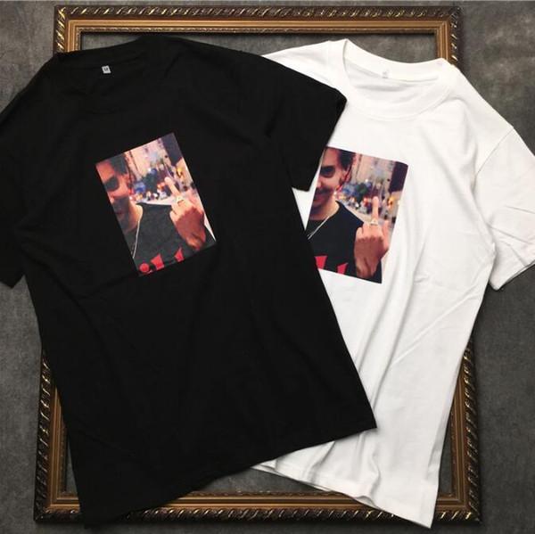 2019 neueste luxus herren geste fotodruck männer und frauen liebhaber hohe qualität schönheit stern druck t-shirt designer t shirts casual baumwolle