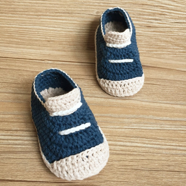 QYFLYXUE 무료 배송 크로 셰 뜨개질 아기 신발, 아기 축구 신발, 크로 셰 뜨개질 아기 신발, 크기 0-12 개월 손으로 짠 유아 신발