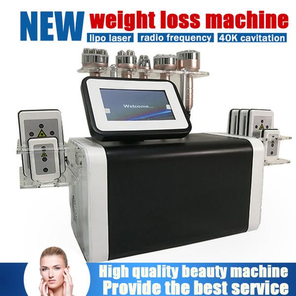 Hot 6in1 laser queima de gordura emagrecimento máquinas de lipoaspiração a laser cavitação ultra-sônica RF levantamento da pele lipoaspiração perda de peso massagem corporal