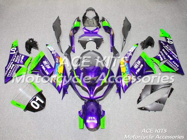 Новый набор для литья под давлением KAWASAKI Ninja ZX6R 599 636 2009 2010 2011 2012 ZX6R 599 636 09 10 11 12 Доступен во всех цветах A52
