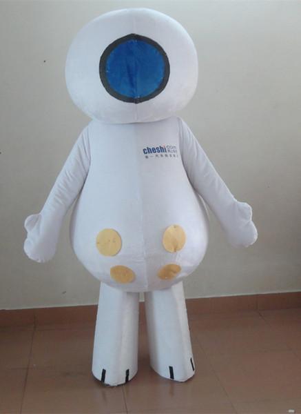 Personnage de dessin animé Adulte mignon blanc heureux poupée Costume De Mascotte Déguisement Costume de fête pour Halloween fête événement