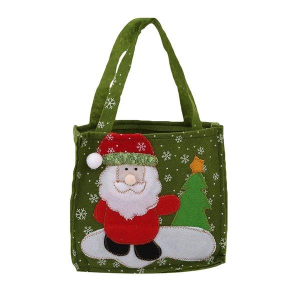 зеленый Санта-Клауса