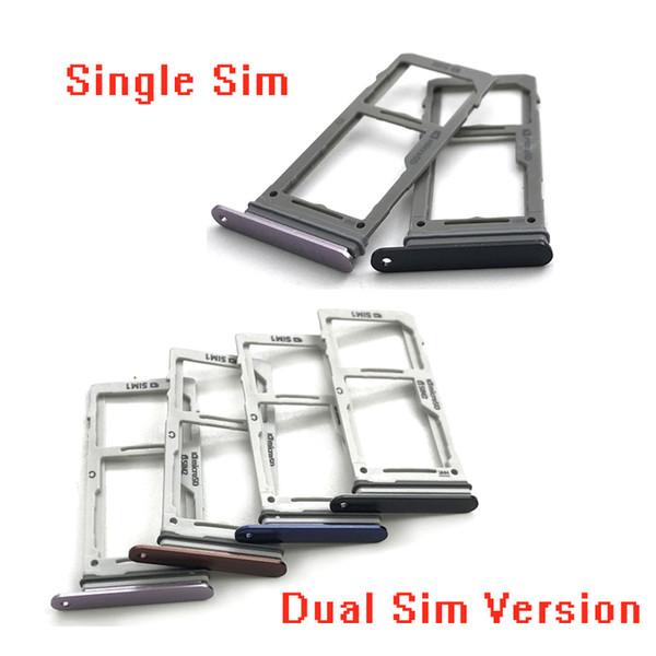 Dual/Single SIM Card Tray For Samsung Galaxy Note 9 N960 Sim Slot Replacement Parts SM-N960