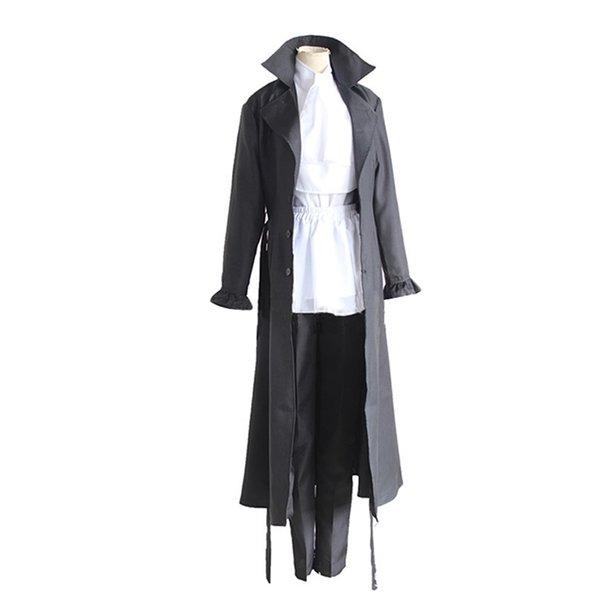 Bungo Stray Dogs Mafia Cosplay Akutagawa Ryunosuke Disfraz Anime Uniforme Abrigo largo Trench Jacket Disfraz de Halloween hecho a medida
