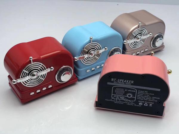 BT-03 HiFi Retro Wireless Bluetooth Speaker Radio BT03 Cute Mini Bass V4.2 TF Card Interface Bluetooth 20PCS/LOT