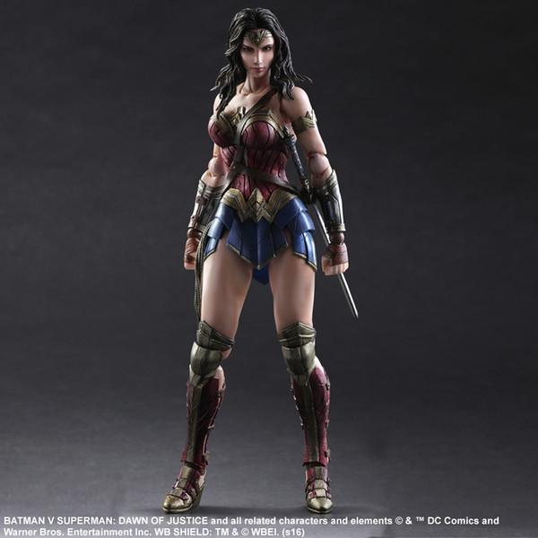 Play Arts Kai DC Batman vs Superman: Dawn of Justice: Wonder Woman Diana Prince Action Figure Superhero Model Toy