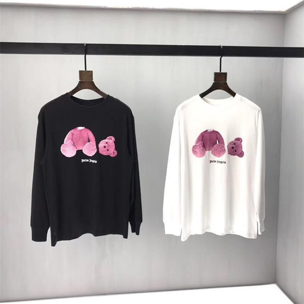 Maglietta Palm Angels Uomo Donna Loog Sleeve Casual Autunno Inverno Palm Angels Top Tees Kill Bear Palm Angels