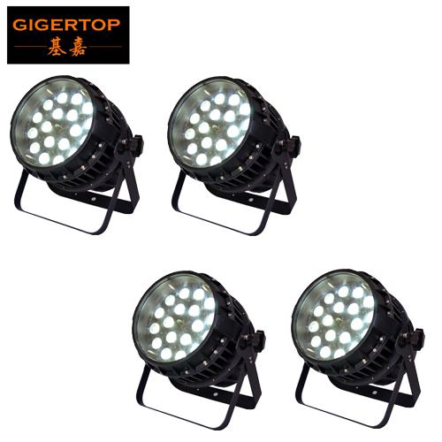 TIPTOP 4 units 18x12W RGBW 4IN1 Waterproof Zoom Led Par Light Profesiosnal Stage Led Lighting Outdoor Wall Washer Light Wash Beam 2in1