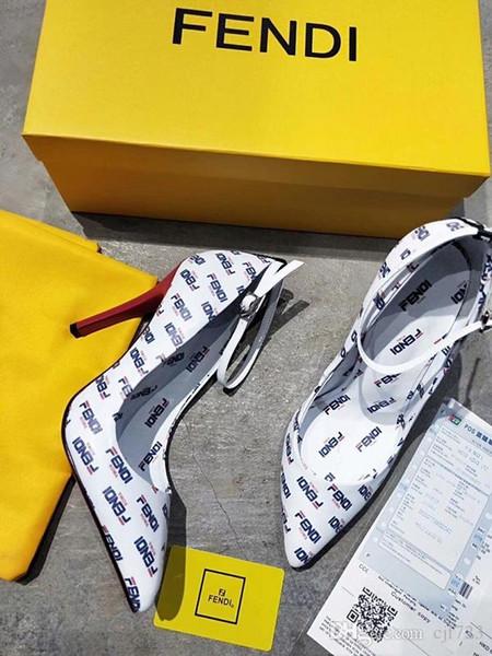 Iduzi Tacones altos Mujer Zapatillas de cuero Marca de lujo Beige Sandalias negras Tacones de pasarela Bombas Vestido de mujer Zapatos de baile Envío gratis