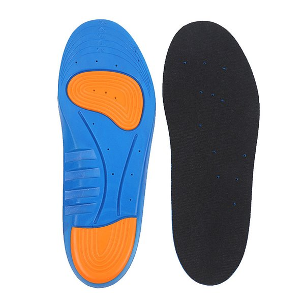 Plantilla de deporte al aire libre de las mujeres y el hombre de baloncesto de absorción de choque zapato Pad de ventilación suave cómodo azul plantillas 7 5ddD