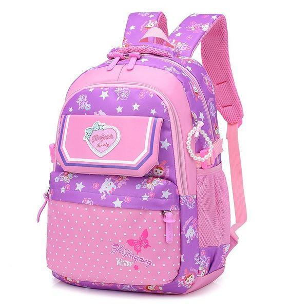 Per gli adolescenti ragazze di alta capacità in nylon con cerniera Zaini Dot stampa Ragazze Schoolbag Kid Zaino Sacchetti di scuola Mochila Infantil
