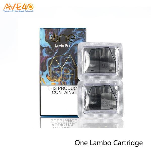 OneVape Lambo Repacement Boş Kartuş 2ml kapasite ile 1.6ohm Bobin Bir Lambo Kartuşları% 100 Orijinal